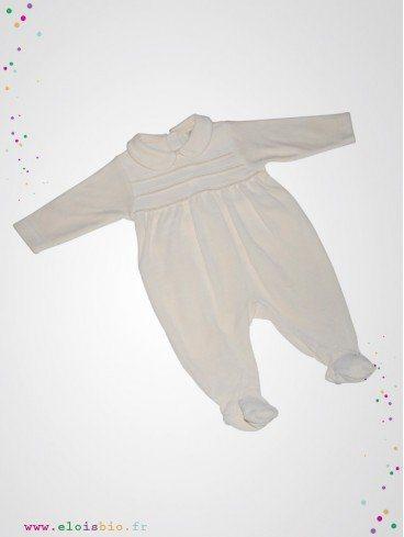 Pyjama bébé velours de coton bio