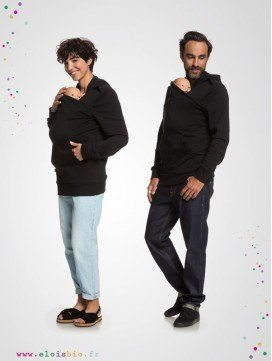 Mama and Daddy Plays- sweat porte-bébé - Black