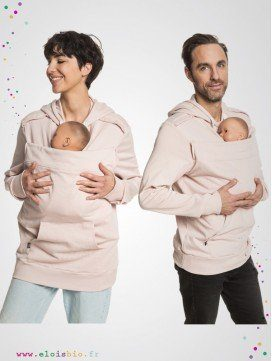 Mama and Daddy Plays - sweat porte-bébé - Sépia Rose