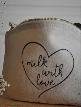 Trousse rangement Milk with Love coton bio
