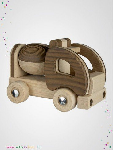 Camion toupie jeu en bois naturel