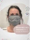 Masque en tissu double couches adulte - Coton Bio