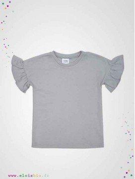 T-shirt enfant à manches volants en coton bio