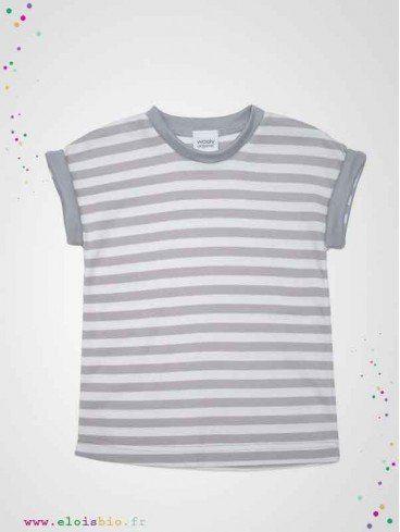 T-shirt enfant à rayures coton bio