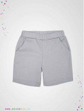 Short enfant gris clair en coton bio