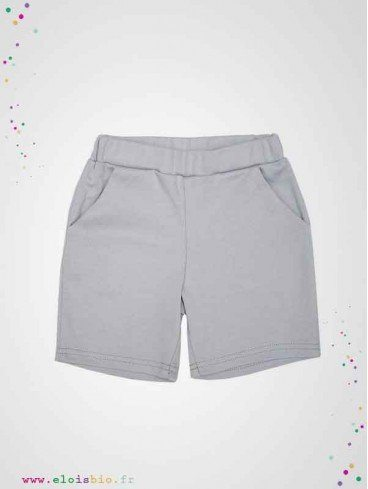 Short enfant en coton bio fabrication europe