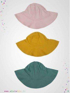 Chapeau de soleil enfant coton bio - 3 couleurs