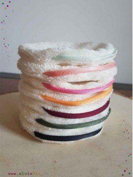 Pancakes, cotons lavable - 7 couleurs de anses
