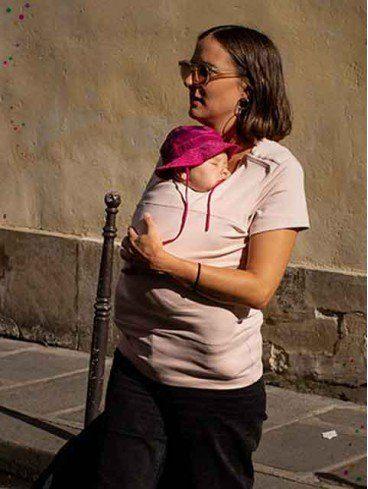 Summer Mama - T-shirt porte-bébé en coton bio - Sepia Rose