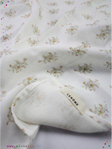 Lange Harlow Fleurs beige coton bio