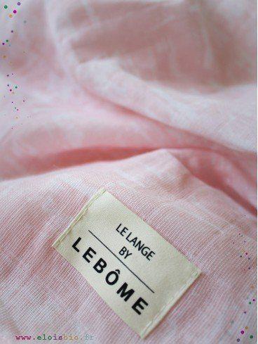 Lange harper pink effect mousseline coton bio