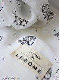Lange imprimé oiseaux mousseline coton bio france