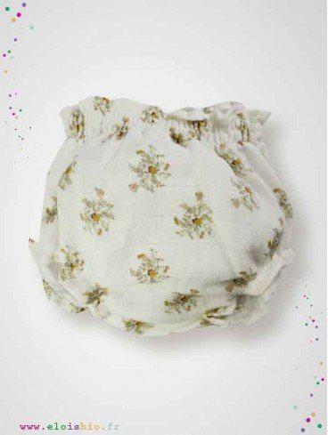Bloomer Gustave - imprimé fleurs beige coton bio
