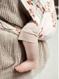 Écharpe de portage double bandeaux Ginkgo coton bio