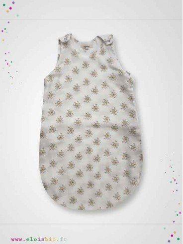 Gigoteuse turbulette légère coton bio Jenny imprimés fleurs beiges