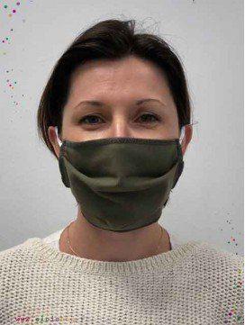 Lot de 3 masques en tissu mono-couche adultes - Coton Bio - 4 coloris