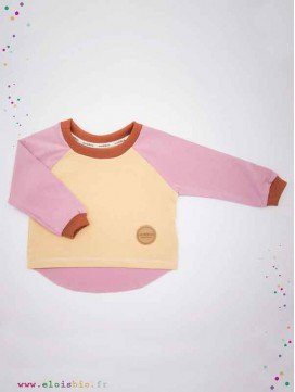 Tee-shirt enfant coton bio - Easy Dressing - Rose, Sable, Cannelle