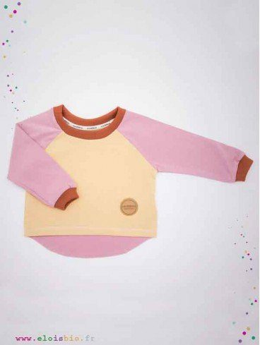 Tee-shirt enfant coton bio - Easy Dressing - Rose, Sable, Cannelle