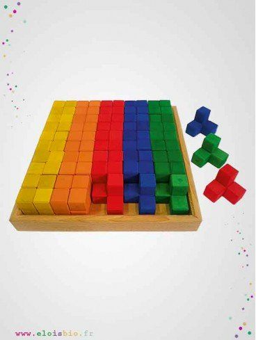 Blocs de construction angle en bois - 50 pièces