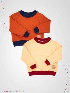 Sweat enfant coton bio - Easy Dressing - 2 coloris