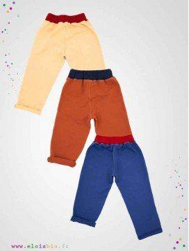 Pantalons enfant coton bio - Easy Dressing - 3 coloris