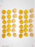 Mandala pots de miel en bois 36 pièces