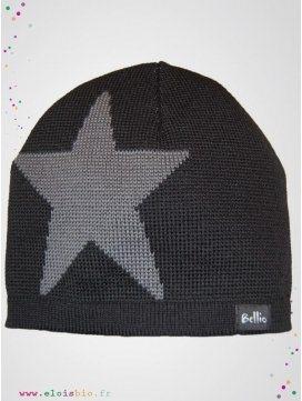 "Bonnet Etoile ""Stjärna"" Noir"