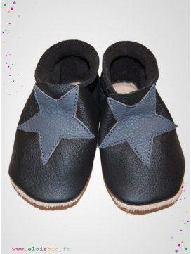 eloisbio-chausson etoiles noir-gris bellio