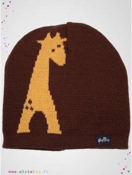 "Bonnet en laine ""giralf"""