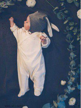 Pyjama kimono bébé en coton bio - 3 coloris