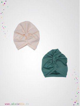 Turban enfant coton bio - 2 coloris