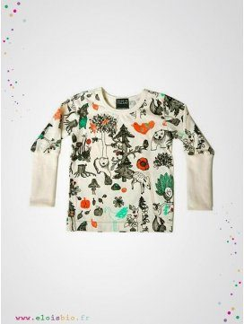 "Tee-shirt ""Enchanted Forest"" manches longues"