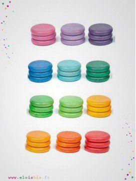 assortiment-36-pieces-colorees-bois-naturel-jeu-libre-joguines-grapat-ELOisBIO