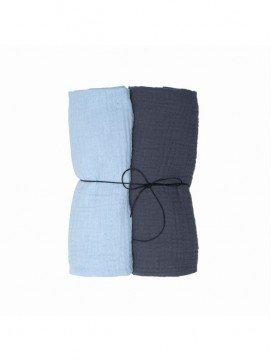 pack-2-langes-unisexe-mousseline-coton-bio-bébé-wooly-organic-eloisbio