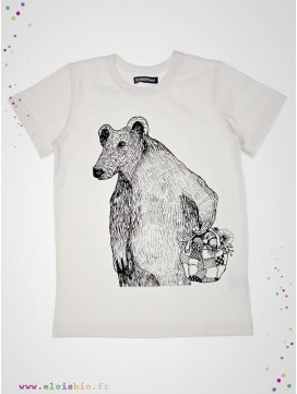 Tee-shirt motif Ours manches courtes