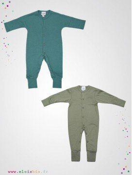 Pyjama sans pied / Combinaison en coton bio - 2 coloris