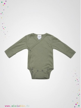 Body kimono naissance manches longues sage coton bio wooly organic