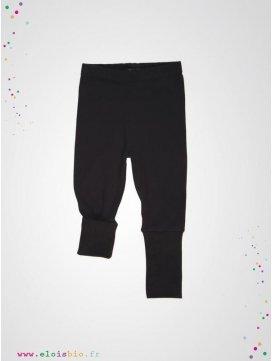 Legging enfant noir coton bio