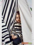 """Tee-shirt enfant imprimé """"Stripe"""" rayures noires manches longues"""