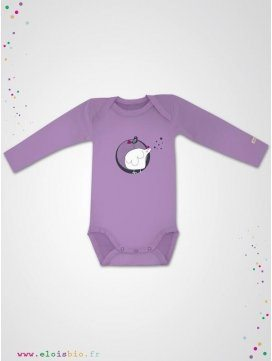 "Body enfant ""Mini-Poule"" rose lila"