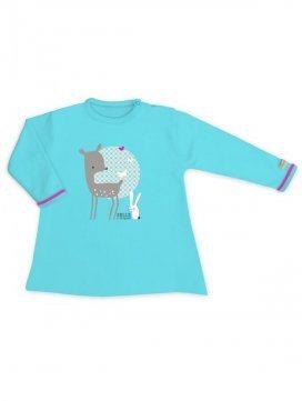 eloisbio-ts1412 minizabi tee-shirt-fille-bleu azur mini biche