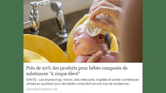 PRODUITS POUR BÉBÉS COMPOSÉS DE SUBSTANCES CHIMIQUES