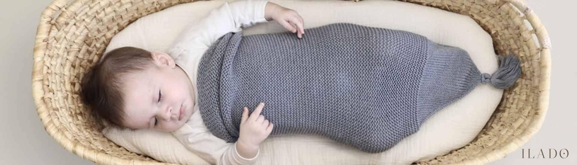 Cocon de laine mérinos pour bebe