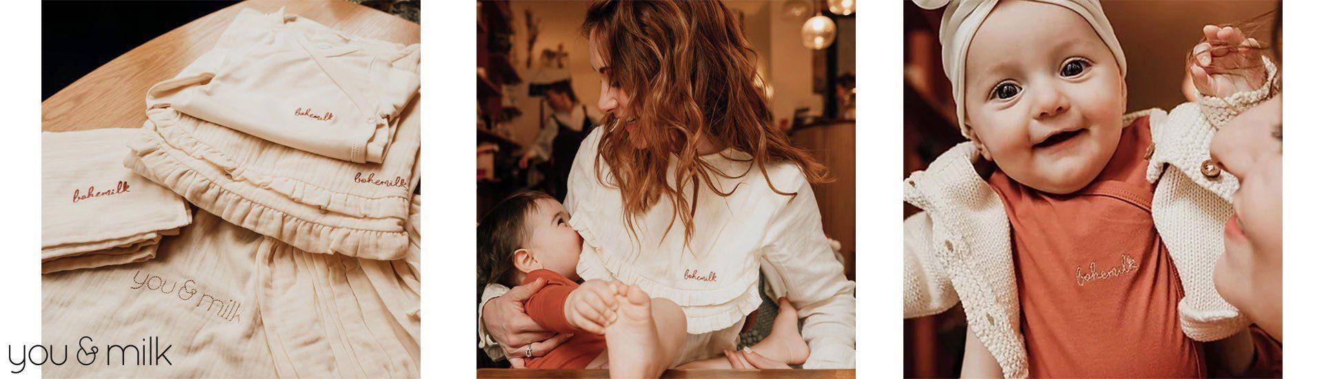 Collection vêtements maman et enfant coton biologique You&Milk