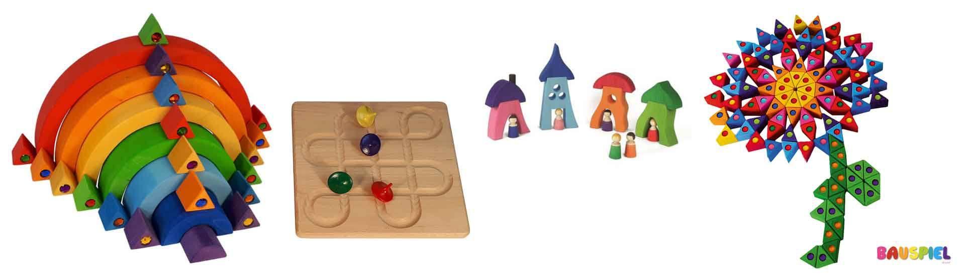Gamme de jeux libre en bois fabrication Allemagne Bauspiel