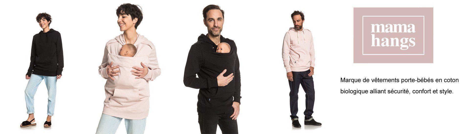 Vêtements porte-bébé coton bio mamahangs France