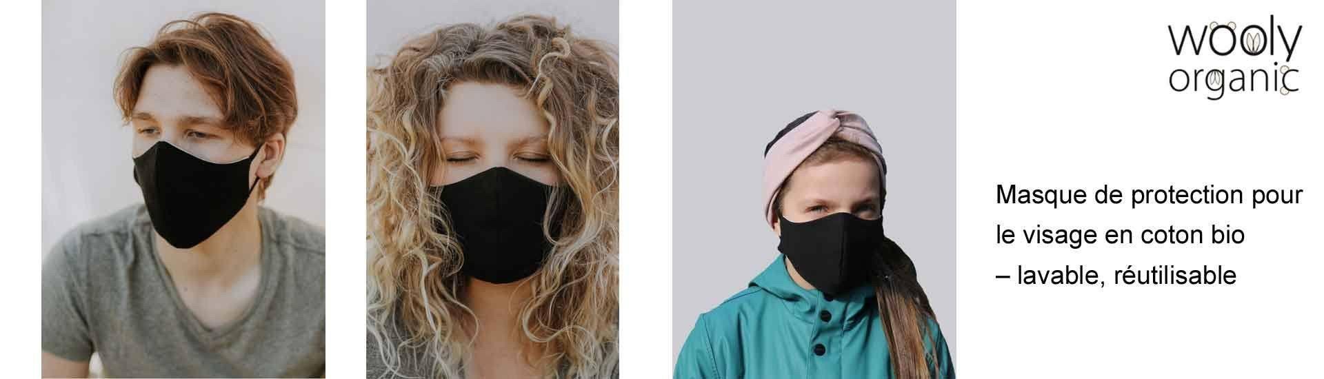 Masque en tissu lavable coton bio wooly organic